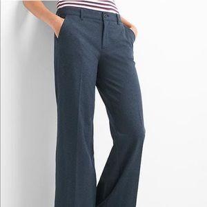 NWT Gap Wide Leg Navy Knit Trouser Pants 00